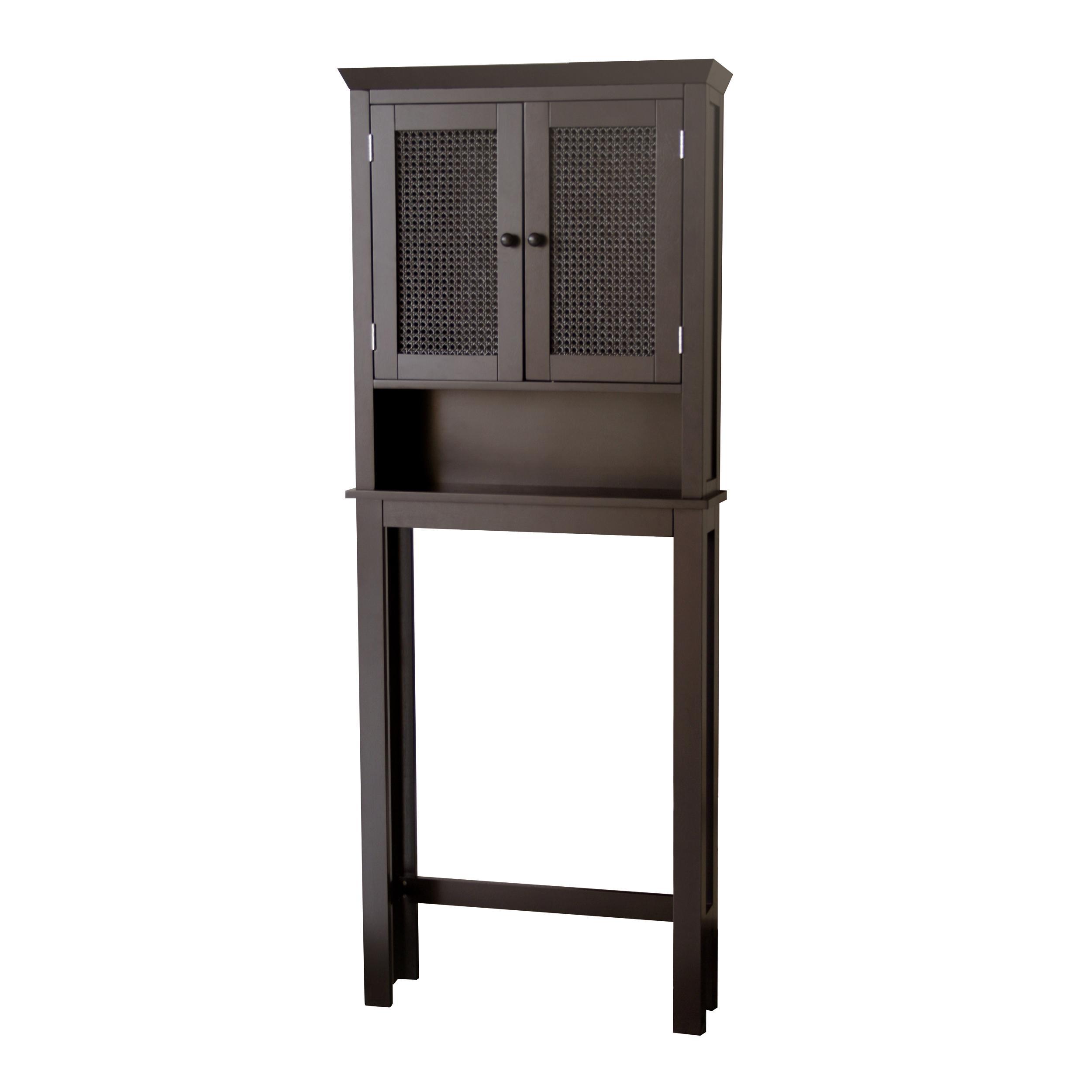 Jasper dark espresso space saver bathroom cabinet free shipping today 13434602 for Bathroom space saver cabinets