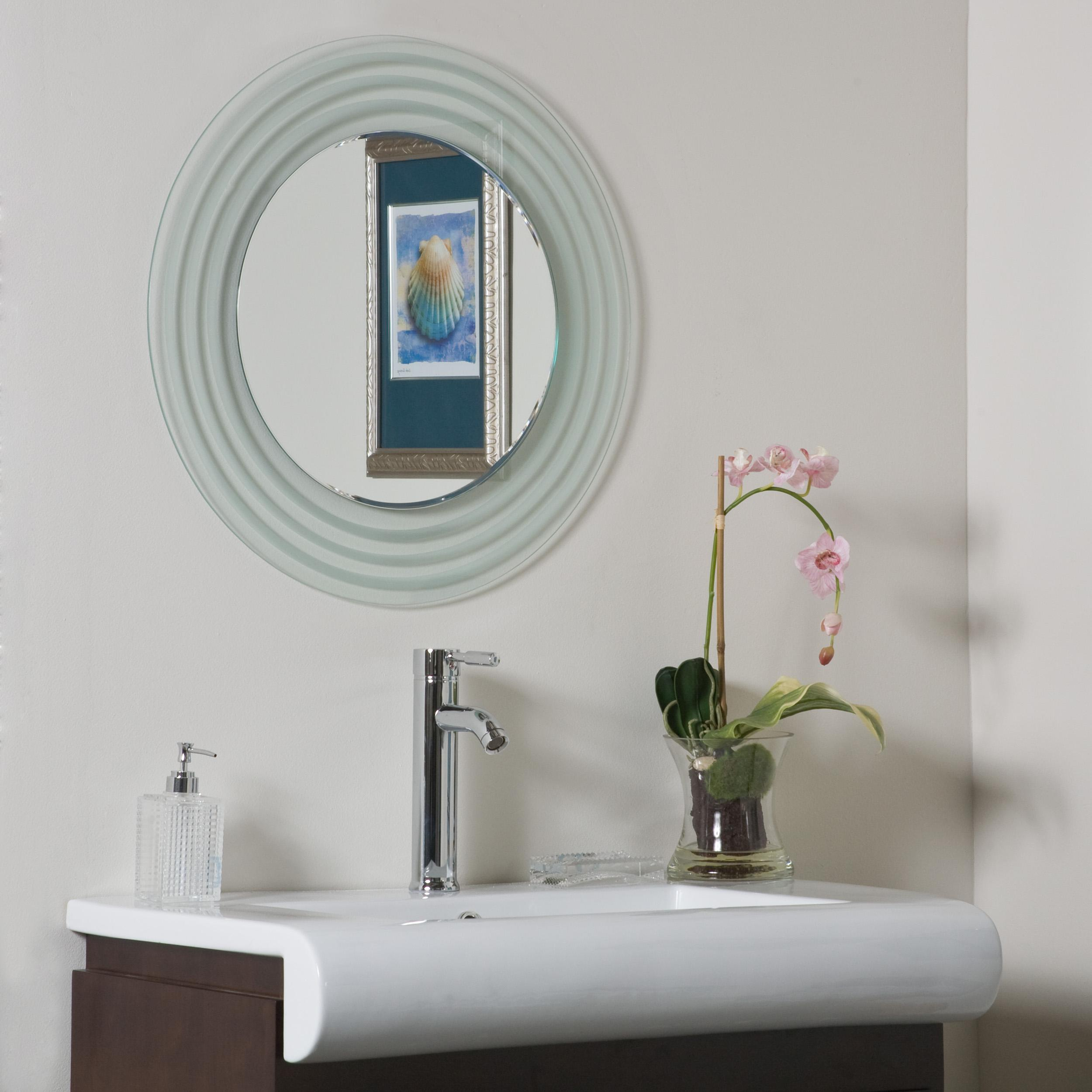 Shop Isabella Round Frameless Bathroom Mirror - Free Shipping Today ...