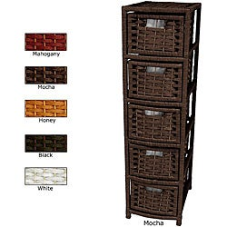 Handmade Natural Fiber 5-drawer Occasional Chest (China)