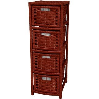 Natural Fiber 4-drawer Occasional Chest (China)