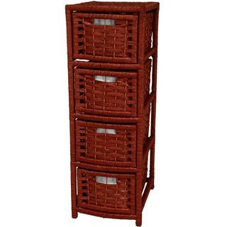 Handmade Natural Fiber 4-drawer Occasional Chest (China)