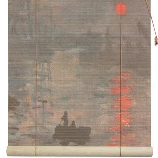 Handmade Bamboo 'Impression Sunrise' Window Blinds (24 in. x 72 in.) (China)