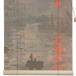 Handmade Bamboo 'Impression Sunrise' Window Blinds (24 in. x 72 in.) (China)