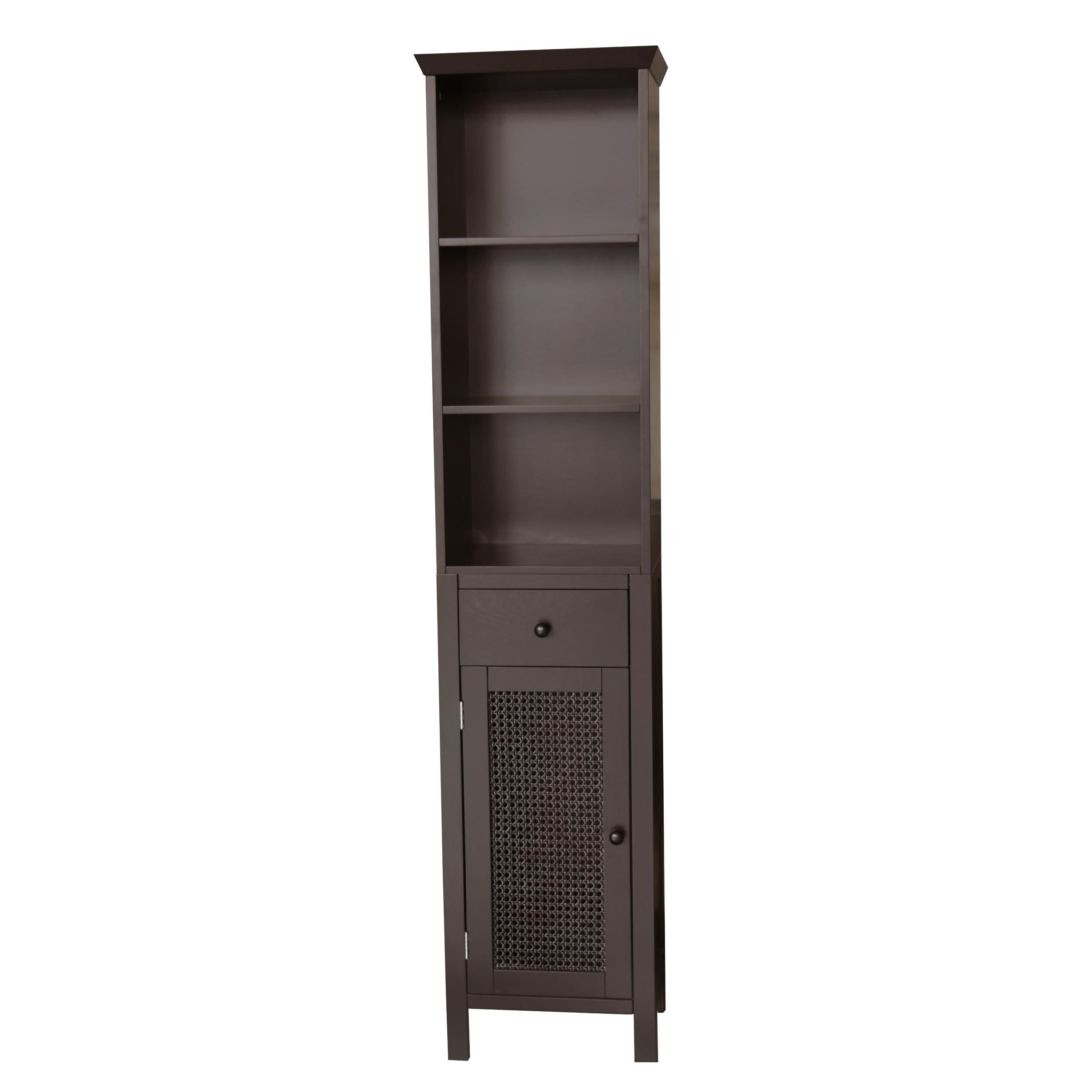 Jasper Dark Espresso Linen Organizer Cabinet by Essential Home Furnishings