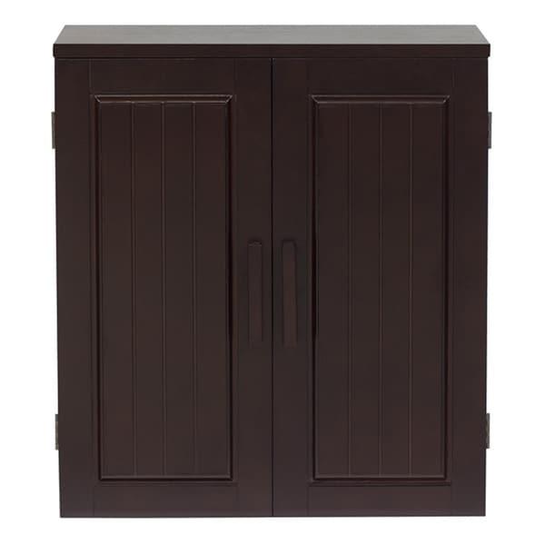 Covington Dark Birch Wall Cabinet by Essential Home Furnishings