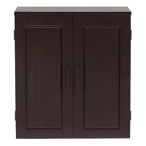 Essential Home Furnishings Covington Dark Birch Wall Cabinet