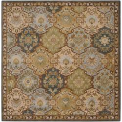 Hand-tufted Coliseum Blue Wool Rug (9'9 Square)