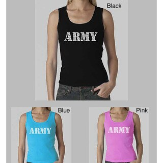 Los Angeles Pop Art Women's 'Army' Tank Top (More options available)