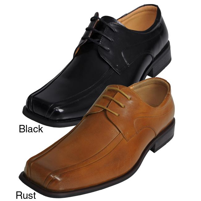 Boston Traveler Men's Square Leather Oxfords