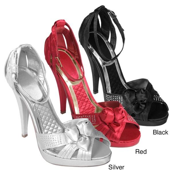 Liliana by Journee Co Women's 'Diesel-3' Ribbon Ankle Strap Heels