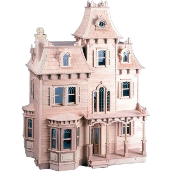 Shop The Beacon Hill Pink Wood Dollhouse Kit Free Shipping Today