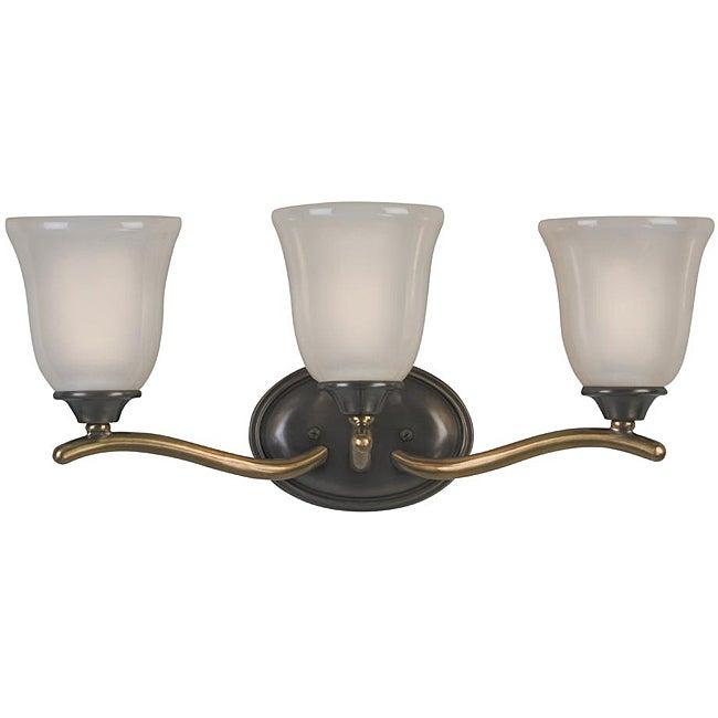 Shop Olde Bronze 3 Light Vanity Fixture Free Shipping Today 5695453