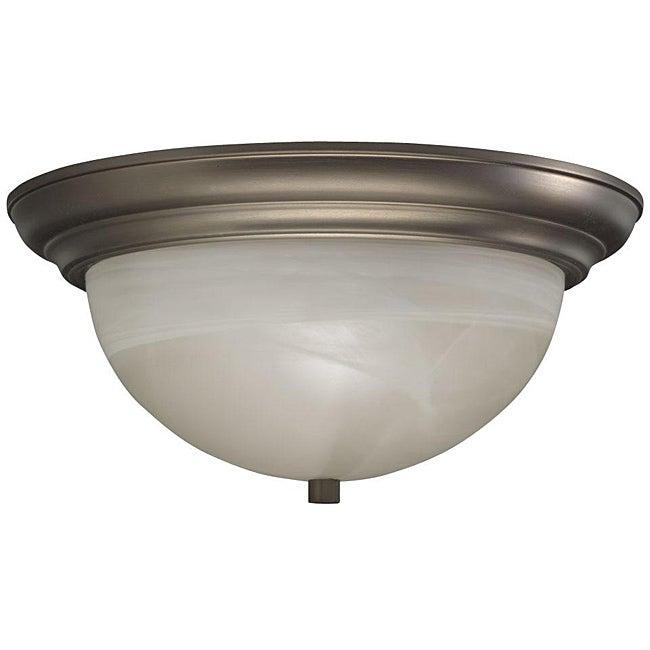 Cashmere Flush Mount Alabaster Glass 2-light Fixture