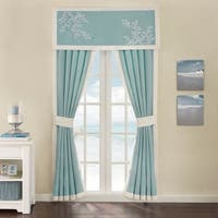 Coastline Blue Cotton 84-inch Curtain Panel Pair - 42 x 84""