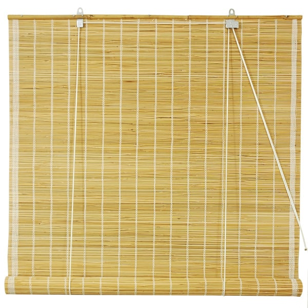 Handmade Matchstick Natural Rollup Window Blinds 60in x 72 in