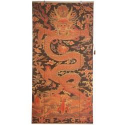 Handmade Bamboo 24-inch Dragon Design Window Blinds (China)