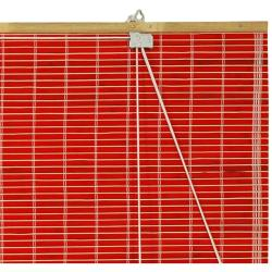 Handmade Bamboo Red Roll-up Window Blinds (72 in. x 72 in.) (China) - Thumbnail 1
