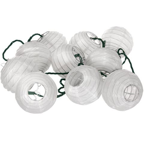 Handmade Shoji Paper Snow Maru Ball String Lights (China)
