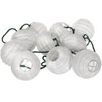 Handmade Shoji Paper Snow Maru Ball String Lights (China)
