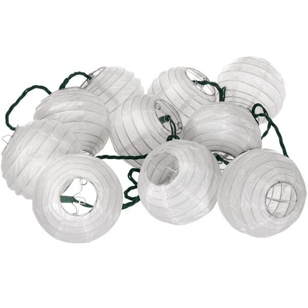 Shoji Paper Snow Maru Ball String Lights (China)