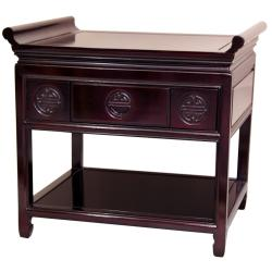 Handmade Rosewood 22-inch Dark Cherry Altar Table (China)