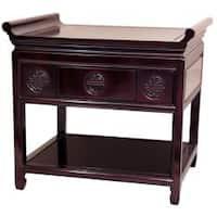 Handmade Rosewood 22-inch Dark Cherry Altar Table (China)