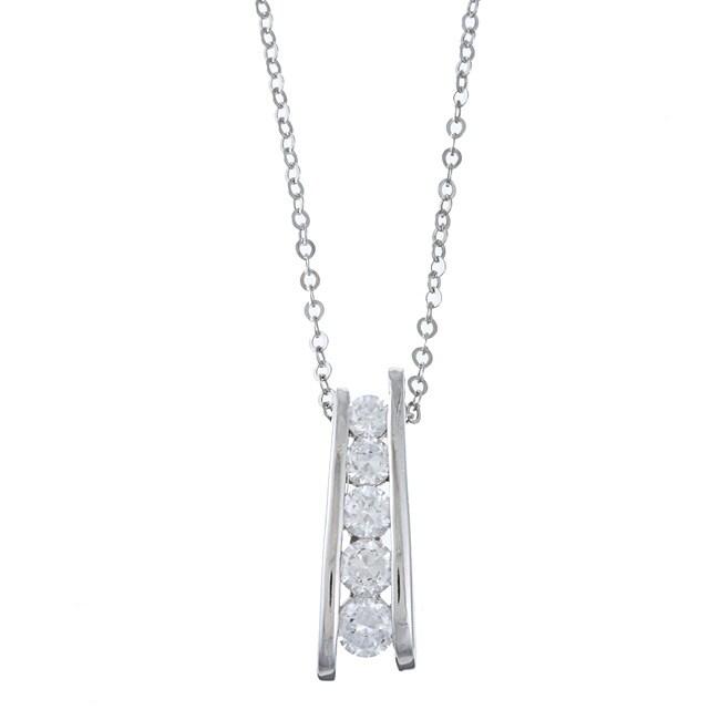 La Preciosa Sterling Silver Cucbic Zirconia Necklace