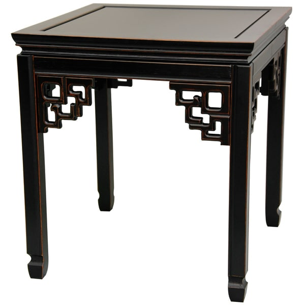 Handmade Rosewood Antique Black Square Ming Table (China)