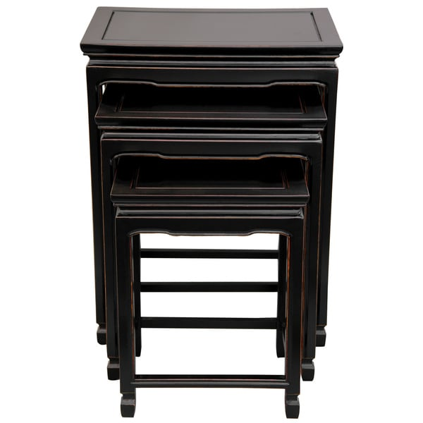 Shop Handmade Set Of Rosewood Antique Black Nesting Tables China - Nesting table with drawer