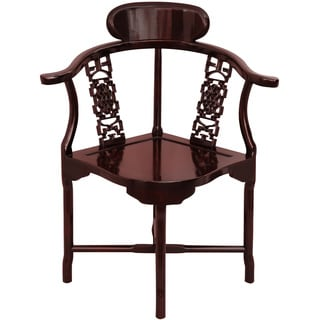 Handmade Rosewood Corner Chair (China)