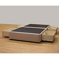 Tiffany 4-drawer King Platform Bed/ Storage Mattress Box - Thumbnail 1