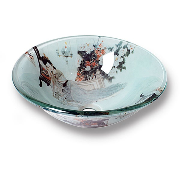 Xiu Modern Tempered Glass Vessel Sink by Flotera
