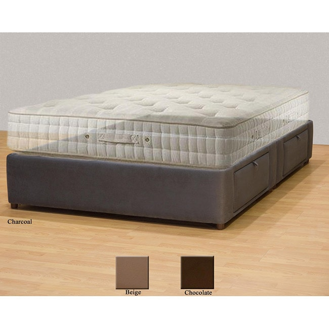 tiffany 4 drawer california king bed storage mattress box free shipping today. Black Bedroom Furniture Sets. Home Design Ideas