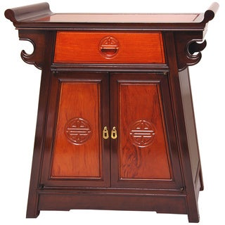 Rosewood Two-tone Altar Cabinet (China)