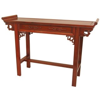 Handmade Rosewood Honey Qing Console Table (China)