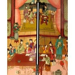 Wooden 7-foot Dream of the Red Chamber Room Divider (China) - Thumbnail 2