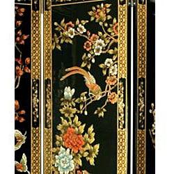 Handmade 6' Wooden Four Seasons Flowers Room Divider