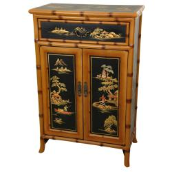 Handmade Wooden 36-inch Ching Shoe Cabinet (China)