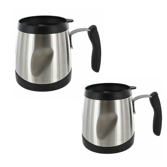 Thermos Thermax 16-oz Stainless Steel Desk Mug - (Set of 2)
