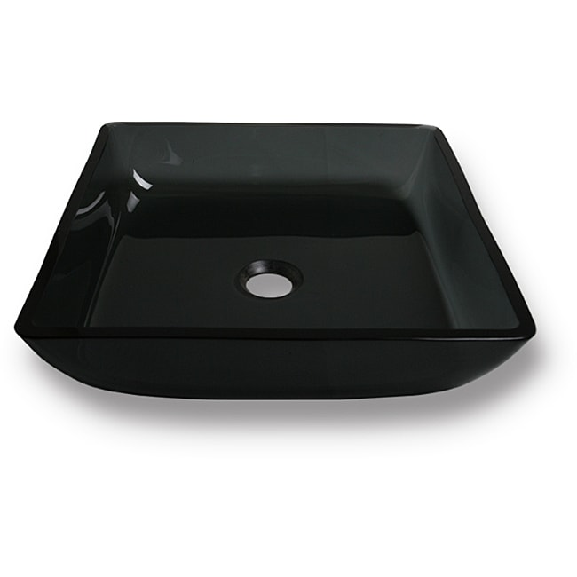 Flotera Merle Tempered Glass Vessel Bathroom Sink - Thumbnail 0
