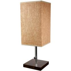 Hand-woven Tobacco Leaf 22-inch Nantou Lamp with Chrome Finish (China) - Thumbnail 0