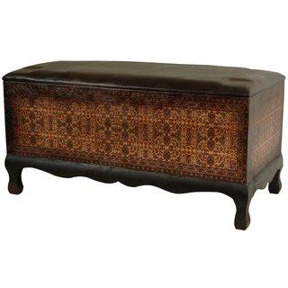 Handmade Olde-Worlde Euro Baroque Bench (China)