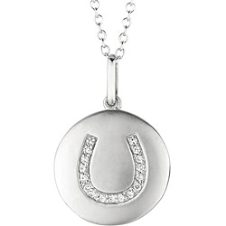 Sterling Silver Diamond Accent Horseshoe Necklace