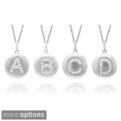 Sterling Silver Diamond Accent Initial Monogram Necklace