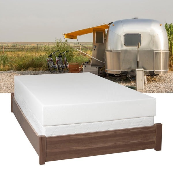 Popular  Luxury Home RV 6inch Firm Reversible Short Queensize Foam Mattress