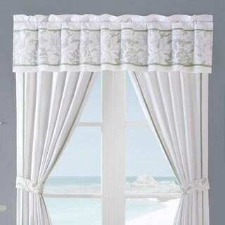 Brisbane White Cotton Window Valance