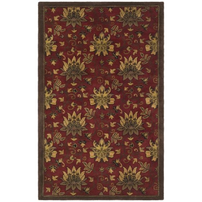 Safavieh Handmade Jardine Red/ Multi Wool Rug (8' x 10')