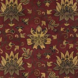 Safavieh Handmade Jardine Red/ Multi Wool Rug (8' x 10') - Thumbnail 2