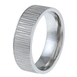 Stainless Steel Men's Textured Band (7 mm)