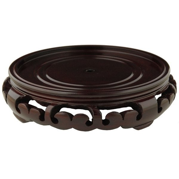Wooden Carved Rosewood Pedestal Stand (China)